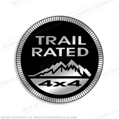"Jeep ""Trail Rated 4x4"" Decal"