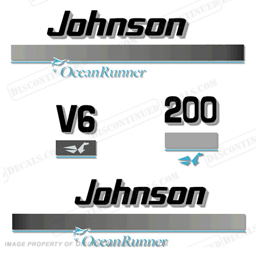 Johnson 200hp OceanRunner Decals ocean runner, ocean-runner
