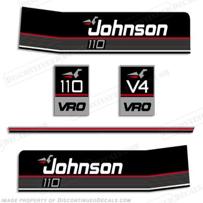 Johnson 1990 110hp Vro Decals