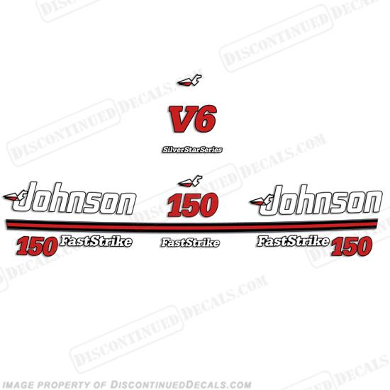 johnson 150hp faststrike silver star series decals