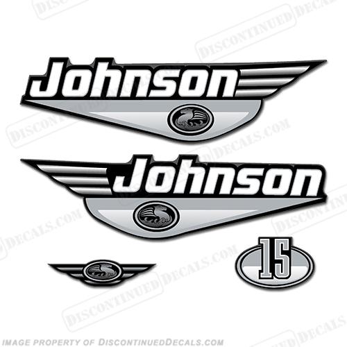 Johnson 15hp Decals - Silver