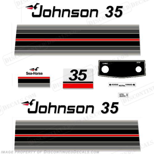 Johnson 1982 35hp Decals