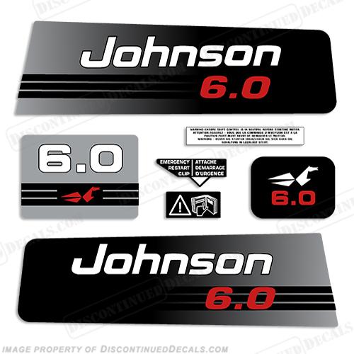 Johnson 6hp Decals 1992 1994