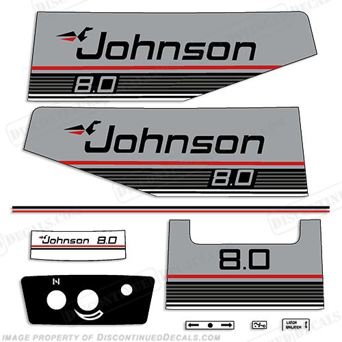 Johnson 1988 8hp Decal Kit