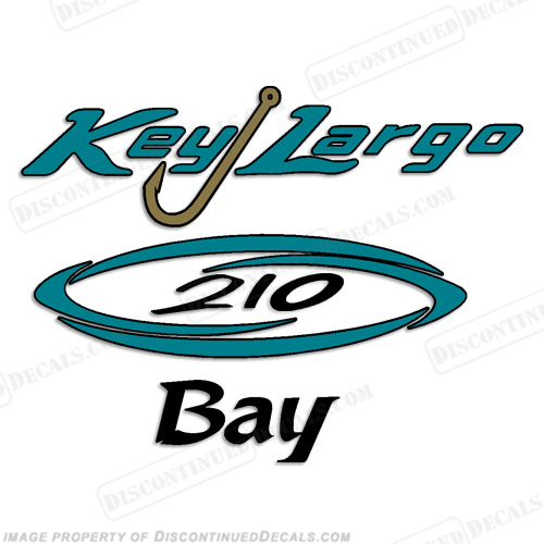 Key Largo 201 Bay Boat Decal