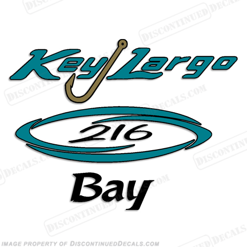 Key Largo 216 Bay Boat Decal