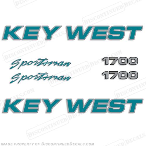 Key West Sportsman 1700 Boat Decals