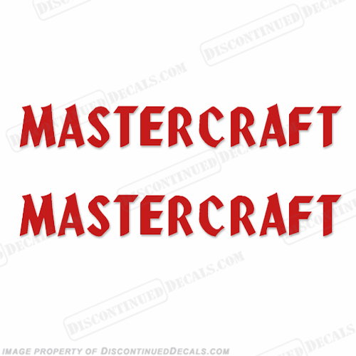 MasterCraft Boat Decals - Style 1 (Set of 2) Any color!