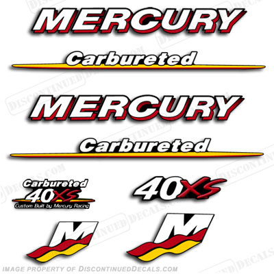 Mercury custom 40hp racing 40xs decals you choose style