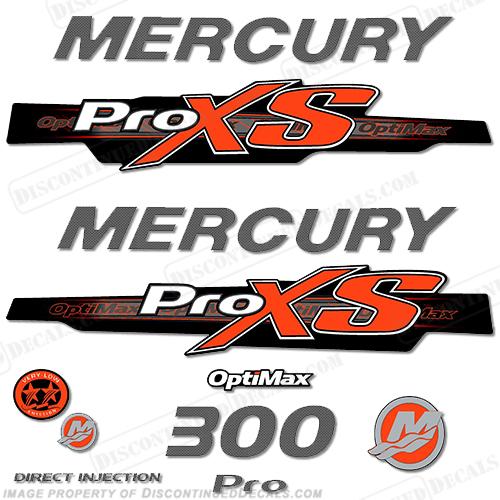 Mercury 300hp proxs 2013 style decals orange carbon pro xs optimax proxs