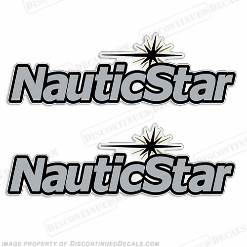 NauticStar Boat Logo Decal (Set of 2) - Silver