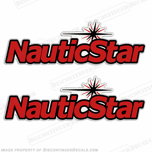 NauticStar Boat Logo Decal (Set of 2) - Any Color!