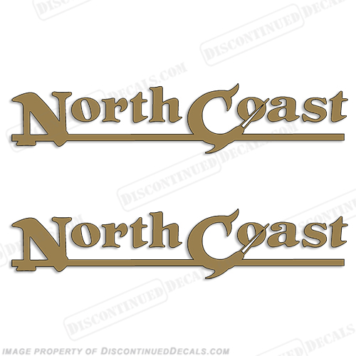 NorthCoast Boat Logo Decals (Set of 2)