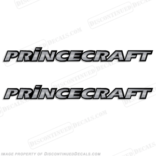 PrinceCraft Boat Log Decal (Chrome) - Set of 2