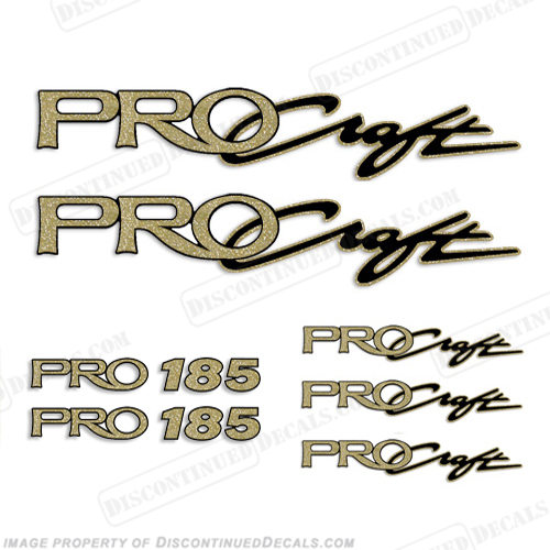 ProCraft Boats & Pro 185 Logo Decal Package