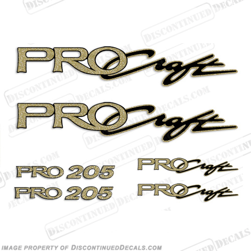 ProCraft Boats & Pro205 Logo Decal Package