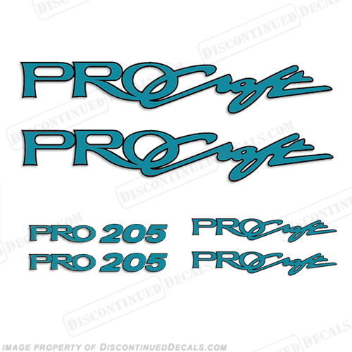 ProCraft Boats & Pro205 Logo Decal Package (Teal)