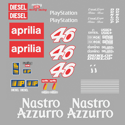 Aprilia RS50 Race Bike Decal Set - 1999