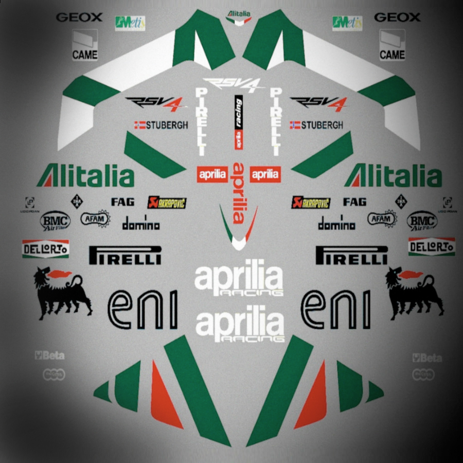 Aprilia RSV4 Race Replica Decal Kit - 2010