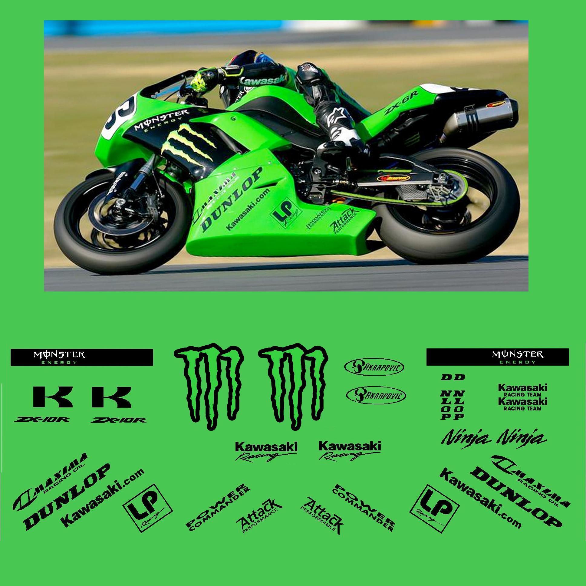 Kawasaki ZX 6R Monster Race Decal Kit