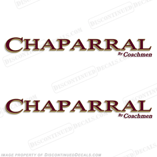 Chaparral by Coachmen RV Decals (Set of 2)