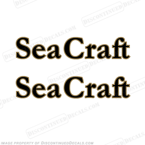 Sea Craft Boat Logo Decals (Set of 2)