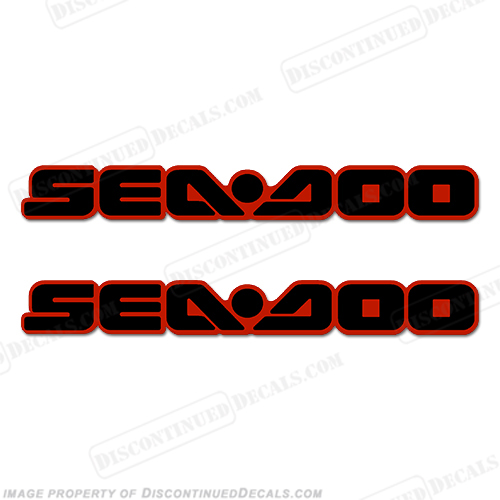 Sea-Doo Decals - Black/Red - Set of 2