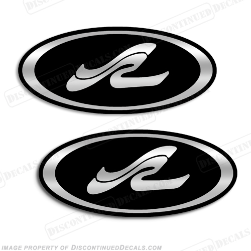"Sea Ray Boat ""LOGO"" Oval Decals - Any Color!"