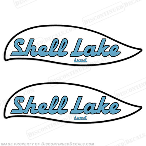 Shell Lake Lund Boat Decals - 1970s