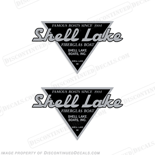 Shell Lake Fiberglass Boats (Chrome/Black) Boat Decals