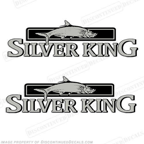 Silver King Decals By Mako Marine Set Of Long - Boat vinyl decalstracker inch boat graphic vinyl decals set ofgreat