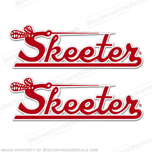 Skeeter Boat Logo Decal (Set of 2) - Red