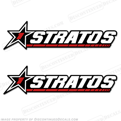 Stratos 1 Boats Logo Decal (Set of 2) - Older Style