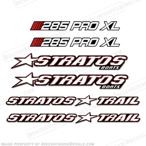 Stratos Boats 285 Pro XL Decal Package