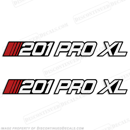 Stratos 201 Pro XL Boat Decals (Set of 2)