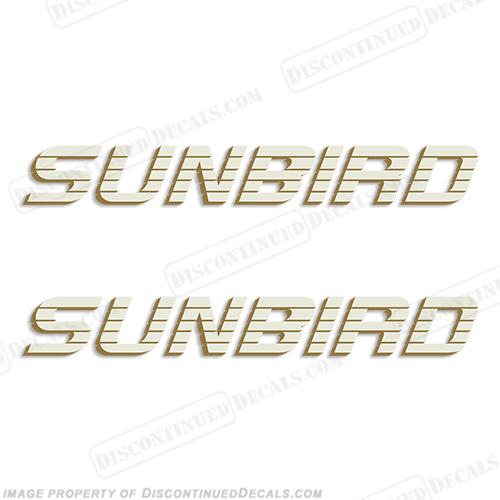 Sunbird Boat Logo Decals Set Of - Decals for boat trailersshorelander
