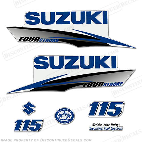 Suzuki 115hp 4-Stroke Decals (Dark Blue) 2010+