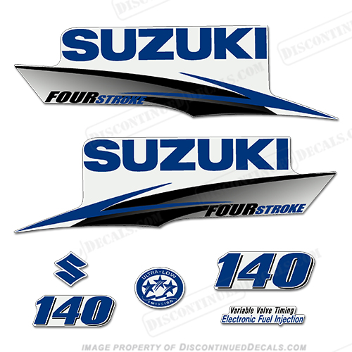 Suzuki 140hp 4-Stroke Decals (Dark Blue) 2010+