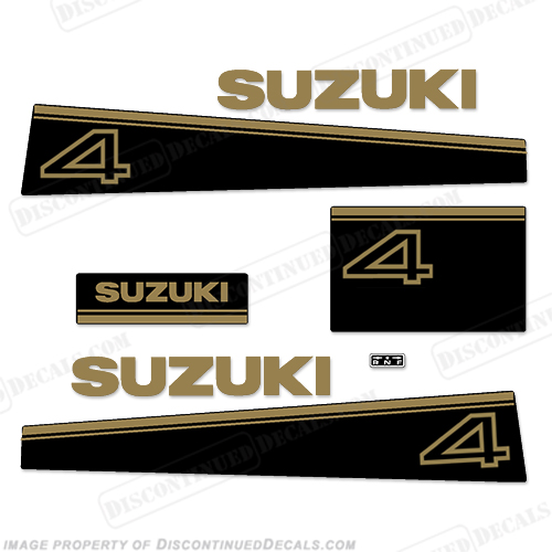 Suzuki 4hp DT4 Decal Kit - Late 80s to Early 90s