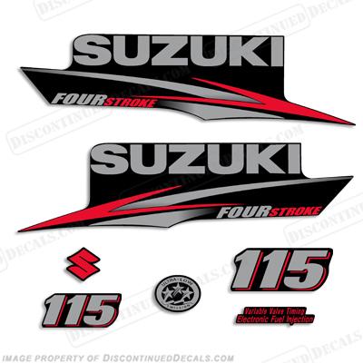 Suzuki 115hp Df115 Four Stroke Decal Kit 2010