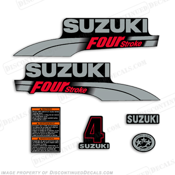 Suzuki 4hp DF4 Decal Kit 2003 - 2009