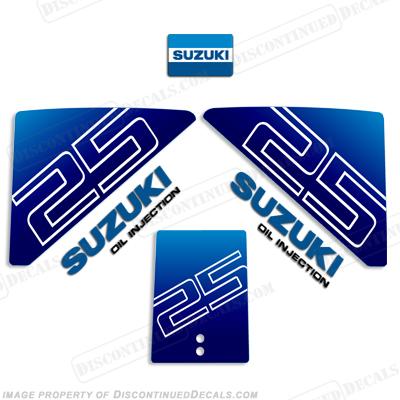 Suzuki 25hp Decal Kit