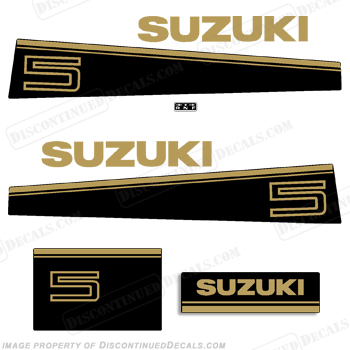 Suzuki 5hp DT5 Decal Kit - Late 80s to Early 90s