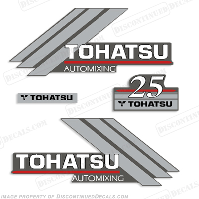 Tohatsu 25hp AutoMixing Decal Kit
