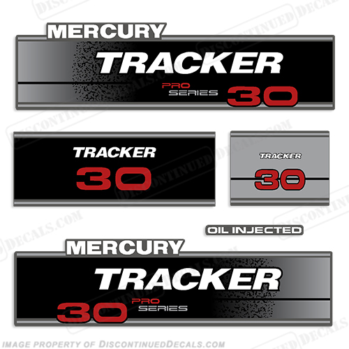Tracker 30hp Pro Series Engine Decal kit