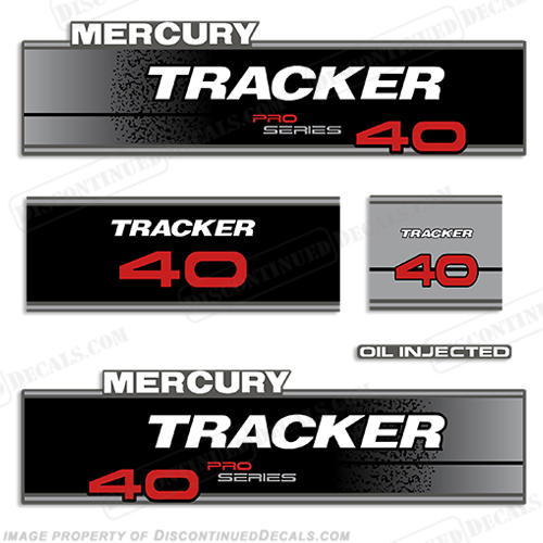 Tracker 40hp Pro Series Engine Decal kit