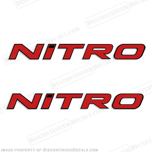 Tracker Marine Decals - Nitro bass boat decals