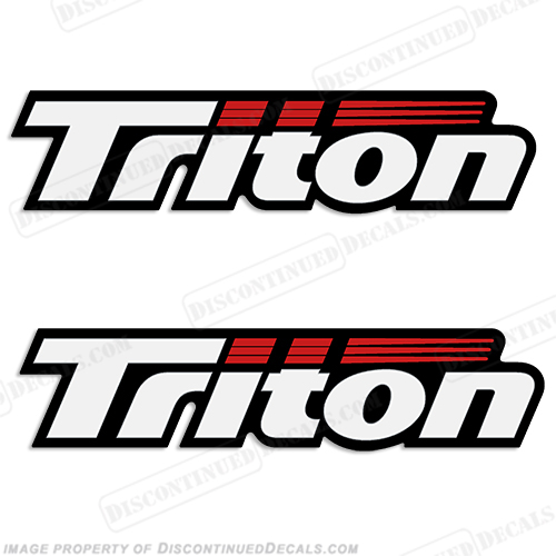 Triton Boat Logo Decals (Set of 2) - Style 2