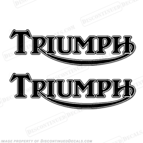 Triumph Retro Gas Tank Decals (Set of 2) - Any Color