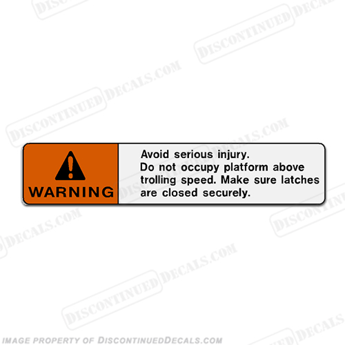 "Warning Decal - ""Avoid Serious Injury..."""